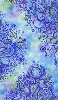 Zentangle Art On Watercolor Paper