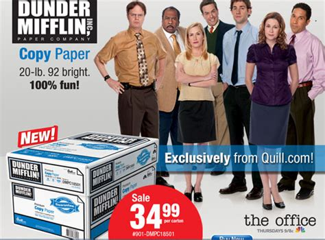 Dunder Mifflin Paper Products Now Available Outside 'the