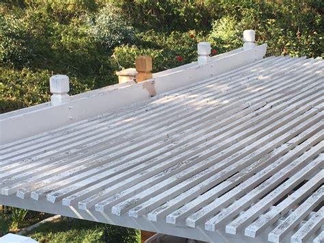 wood patio cover repairs