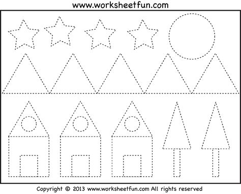 free coloring pages of tracing shapes