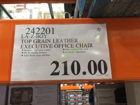costco 242201 la z boy top grain leather executive pffice