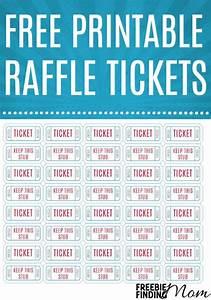 Raffling Tickets Free Printable Raffle Tickets