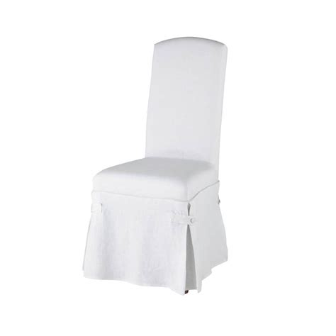 linen chair cover in white maisons du monde