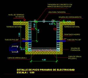 Detail Of Primary Electric Well In Autocad