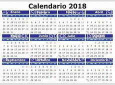 Spanish Calendar 2018 Horizontal Stock Vector Art & More