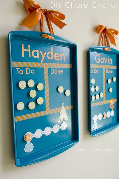 cookie sheet diy crafts baking chore chart craft sheets circle charts chores magnetic board magnet reward magnets idea fun creative