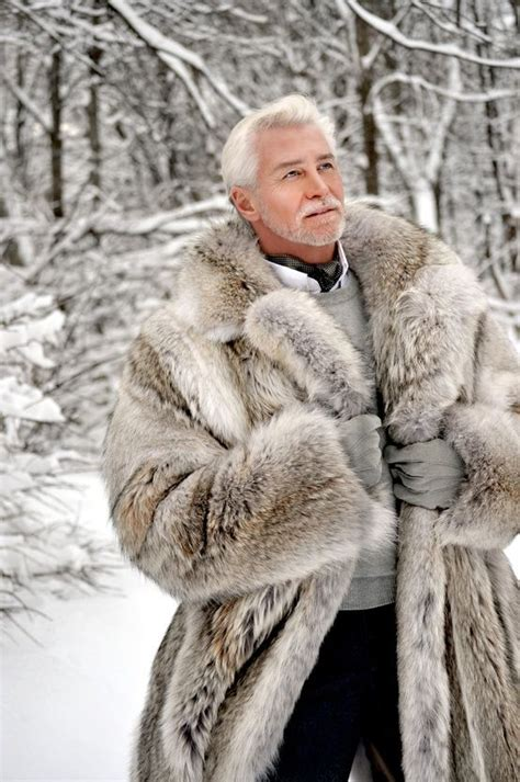 Mature Gentleman In Awesome Fur Coat! Swoonsville! This