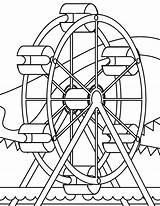 Coloring Park Pages Amusement Wheel Ferris Colouring Coaster Roller Miscellaneous Sheets Printable Source Template Disney Getcolorings Getdrawings Popular sketch template