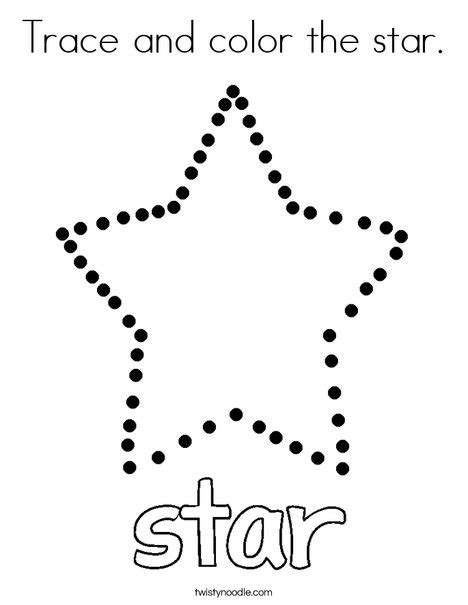 Trace And Color The Star Coloring Page  Twisty Noodle