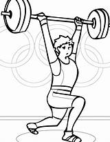 Coloring Pages Weightlifting Weight Lifting Results Print sketch template