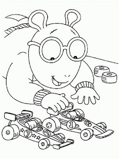 Coloring Arthur Pages Cartoons Printables Cartoon Worksheets