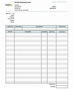 5 job invoice templates free samples examples formats With work invoices free