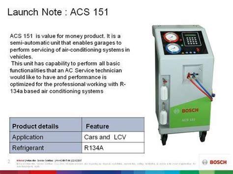 car ac maintenance bosch semi automatic acs gas charging