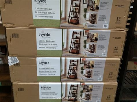 Costco Bayside Bookcase by Bayside Furnishings Ladder Bookcase