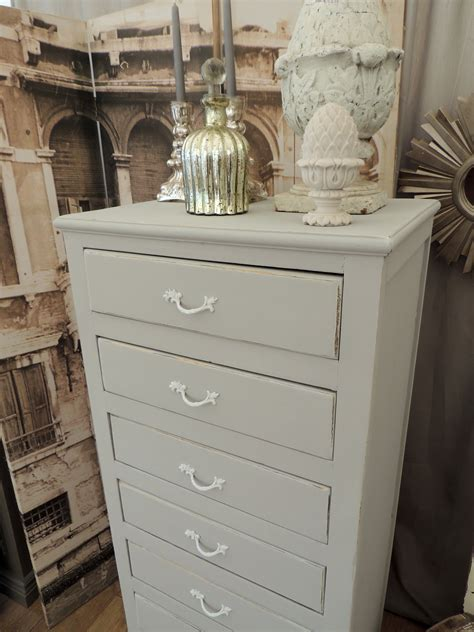oak shabby chic furniture shabby chic oak tallboy with eight drawers eclectivo london furniture with soul
