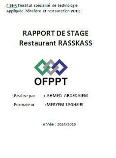 rapport de stage cuisine collective exemple de rapport de stage en cuisine gratuit rapport