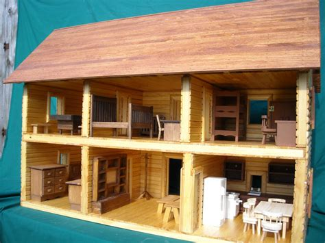 le wooden toy wooden  storey cabin house