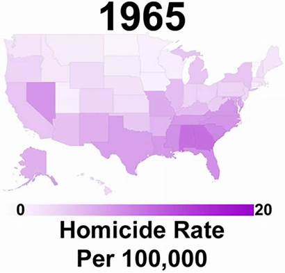 Homicide States United Rate Map Homicides History