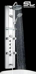Duschpaneel Mit Thermostat : alu duschs ule duschpaneel mit thermostat massaged sen ~ Michelbontemps.com Haus und Dekorationen