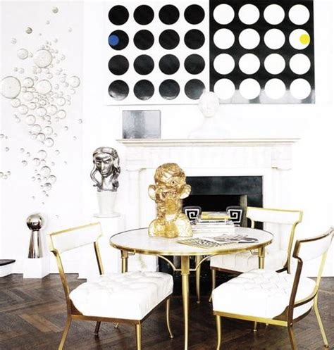 antique brass dining table and chairs eclectic dining room