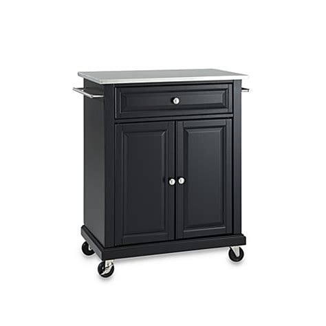 rolling kitchen island cart crosley stainless top rolling portable kitchen cart island