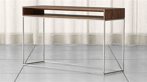frame console table reviews crate  barrel