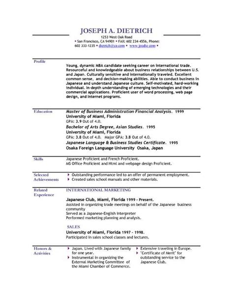 Usable Resume Templates by Cv Format Pdf Cv Format