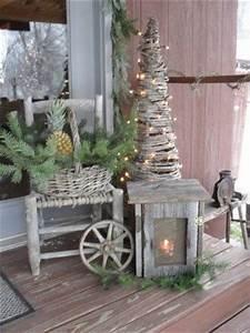 Festive Rustic Christmas Porch Display s