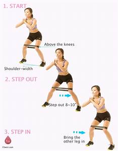 IT-Band Exercises: Lateral Band Walk | Outer thighs ...