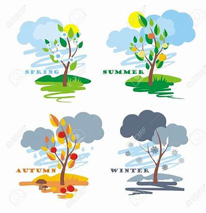 Season Clipart Seasons Change Four Vector Abstract