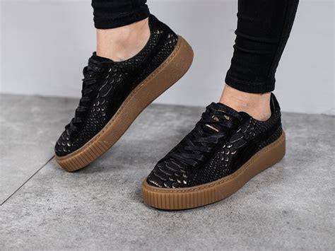 womens shoes sneakers puma platform exotic skin