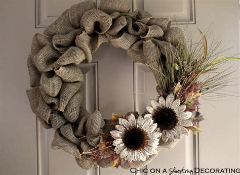 decorating with wreaths chic on a shoestring decorating handmade burlap wreath sneak peak