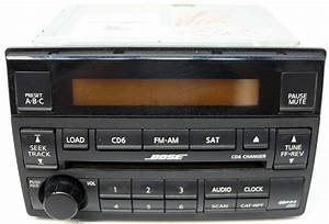 2005-2006 Nissan Altima Bose Factory 6 Disc Changer Cd Player Radio