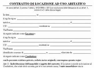 Come si compila il fac simile modello contratto di locazione ad uso abitativo
