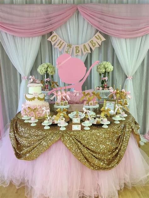 ballerina baby shower party ideas birthday decor idea