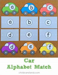 car alphabet match for letter recognition and review With alphabet letter recognition games