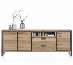 Sideboard 240 Cm : metalo sideboard 3 t ren 2 laden 1 nische 240 cm led henders hazel ~ Frokenaadalensverden.com Haus und Dekorationen