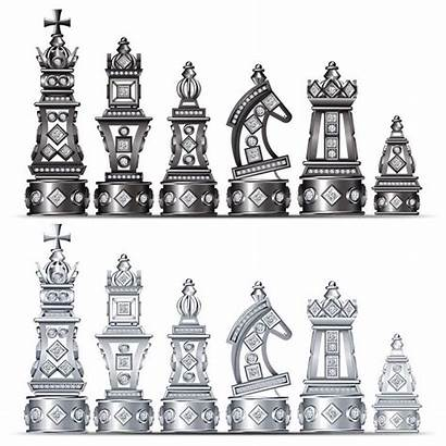 Chess Board Medieval Diamond Times Many Chessmen