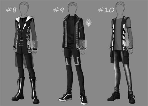 [Closed] Auction BW Outfit men 8-10 by YuiChi-tyan on DeviantArt