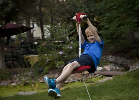Zip Line Kits For Backyard by Steps To Install A Zip Line Dimension Zip Lines