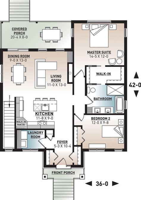 Modern Style House Plan 2 Beds 2 Baths 1604 Sq/Ft Plan