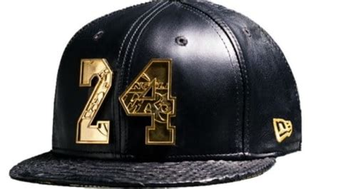 lakers selling gold studded kobe bryant hat