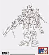 Gundam Coloring Fighters Build Guy Sniper Gm Exia K9 sketch template