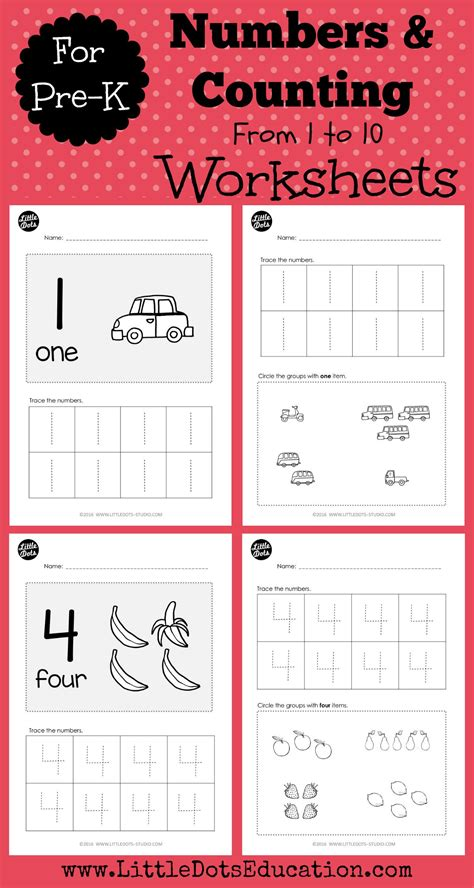 preschool worksheets numbers worksheets and activities for pre k or preschool level practice to trace and