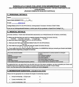 membership form template doc calendar doc With membership form template doc