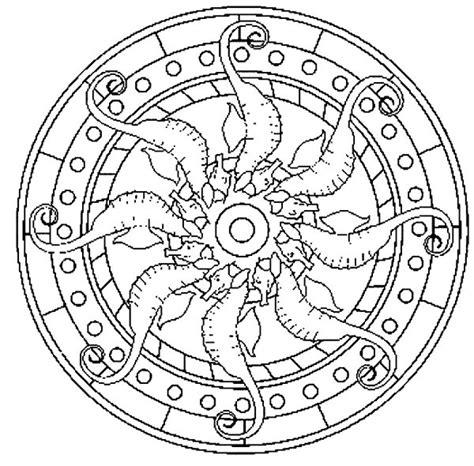 Free Coloring Pages Of Animal Mandala