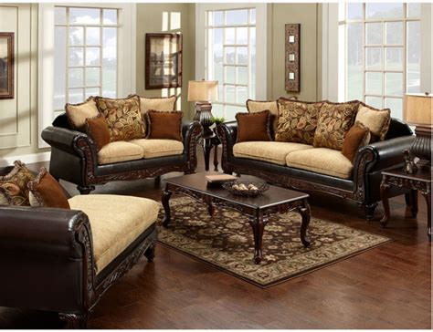 Sofa Pillows Contemporary by Traditional Espresso Fabric Leather Sofa Loveseat