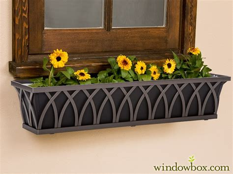 arch tapered bronze iron window box  liners  choose