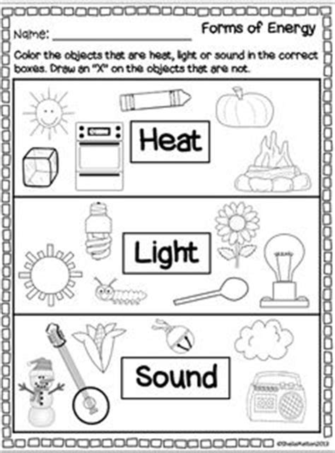 forms of energy heat light sound social studies and