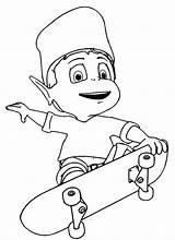 Skateboard Coloring Skateboarding Pages Drawing Skate Getdrawings Adiboo Playing Printable Getcolorings sketch template